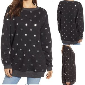NEW Wildfox shimmery snowflake sweater